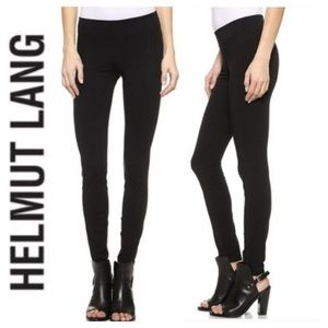 Helmut Lang black cotton compression legginngs, S